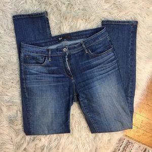 3x1 Blue Jean Denim Straight Faded Boho Jeans